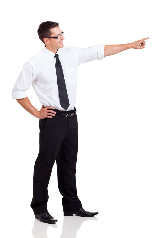 Man pointing to key ways we can help optimize your website